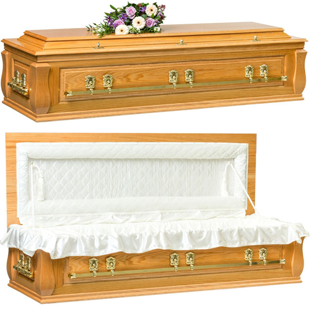 Solid Oak Casket