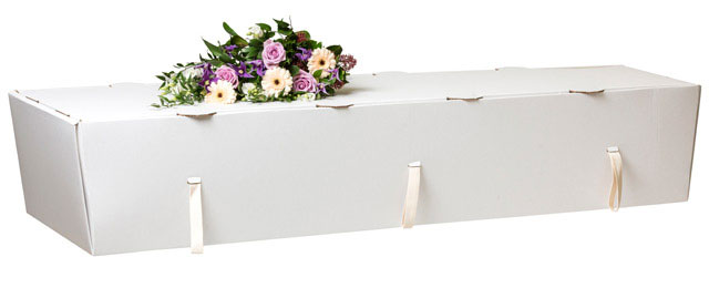 White Cardboard Coffin